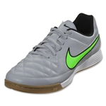 Nike Tiempo Genio Leather IC (Wolf Gray/Green Strike)