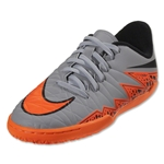 Nike Junior Hypervenom Phelon II IC (Wolf Gray/Total Orange)