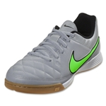 Nike Junior Tiempo Genio Leather IC (Wolf Gray/Green Strike)