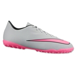 Nike Junior Mercurial Victory V TF (Wolf Gray/Hyper Pink)