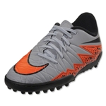 Nike Junior Hypervenom Phelon II TF (Gray/Total Orange)