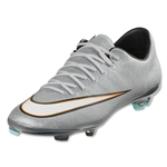 Nike Junior Mercurial Vapor X CR FG (Metallic Silver/Black)