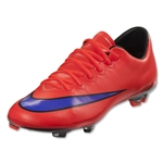 Nike Junior Mercurial Vapor X FG (Bright Crimson/Persian Violet)