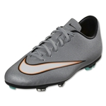 Nike Junior Mercurial Victory V CR FG (Metallic Silver/Black)