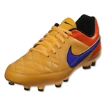 Nike Junior Tiempo Genio Leather FG (Laser Orange/Persian Violet)