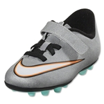 Nike Junior Mercurial Vortex 2 CR FGE (Metallic Silver/Black)