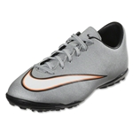 Nike Junior Mercurial Victory V CR TF (Metallic Silver/Black)