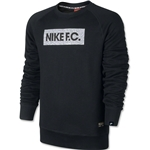 Nike FC AW77 Long Sleeve Crew Top (Black)