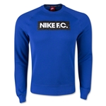 Nike FC AW77 Long Sleeve Crew Top (Royal)