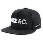 Nike FC True Flat Bill Snapback Hat (Black)