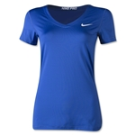 Nike Pro Core V-Neck Women's T-Shirt (Royal)