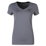 Nike Pro Core V-Neck Women's T-Shirt (Gray)