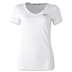 Nike Pro Core V-Neck Women's T-Shirt (White)