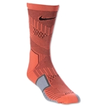Nike Elite Match Fit Soccer Crew Sock (Orange)