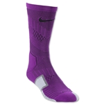Nike Elite Match Fit Soccer Crew Sock (Purple)