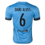 Barcelona 15/16 DANI ALVES Authentic Third Soccer Jersey