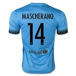 Barcelona 15/16 MASCHERANO Authentic Third Soccer Jersey