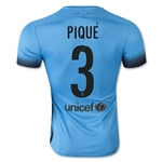 Barcelona 15/16 PIQUE Authentic Third Soccer Jersey
