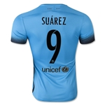 Barcelona 15/16 SUAREZ Authentic Third Soccer Jersey