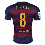 Barcelona 15/16 A. INIESTA Authentic Home Soccer Jersey