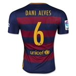 Barcelona 15/16 DANI ALVES Authentic Home Soccer Jersey