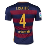 Barcelona 15/16 I. RAKITIC Authentic Home Soccer Jersey