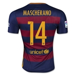 Barcelona 15/16 MASCHERANO Authentic Home Soccer Jersey