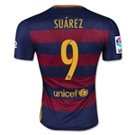 Barcelona 15/16 SUAREZ Authentic Home Soccer Jersey