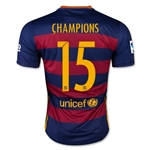 Barcelona 15/16 CHAMPIONS Home Soccer Jersey