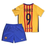 Barcelona 15/16 SUAREZ Little Boys Away Kit