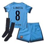 Barcelona 15/16 A. INIESTA Little Boys Third Soccer Kit