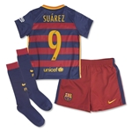 Barcelona 15/16 SUAREZ Little Boys Home Kit