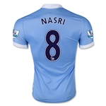 Manchester City 15/16 NASRI Authentic Home Soccer Jersey