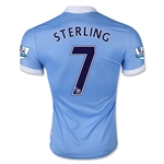 Manchester City 15/16 STERLING Authentic Home Soccer Jersey