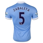 Manchester City 15/16 ZABALETA Authentic Home Soccer Jersey