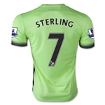 Manchester City 15/16 STERLING Third Soccer Jersey