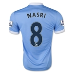 Manchester City 15/16 NASRI Home Soccer Jersey