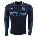 Manchester City 15/16 LS Away Soccer Jersey