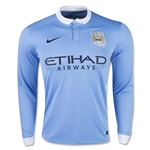 Manchester City 15/16 LS Home Soccer Jersey