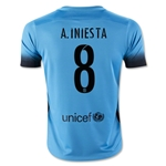 Barcelona 15/16 A. INIESTA Youth Third Soccer Jersey