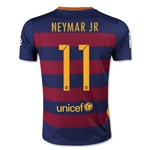 Barcelona 15/16 NEYMAR JR Youth Home Soccer Jersey
