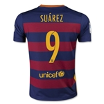 Barcelona 15/16 SUAREZ Youth Home Soccer Jersey