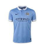 Manchester City 15/16 Youth Home Soccer Jersey