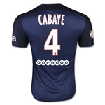 Paris Saint-Germain 15/16 CABAYE Authentic Home Soccer Jersey