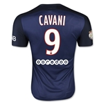 Paris Saint-Germain 15/16 CAVANI Authentic Home Soccer Jersey