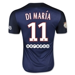 Paris Saint-Germain 15/16 DI MARIA Authentic Home Soccer Jersey
