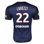 Paris Saint-Germain 15/16 LAVEZZI Authentic Home Soccer Jersey
