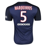 Paris Saint-Germain 15/16 MARQUINHOS Authentic Home Soccer Jersey