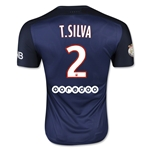 Paris Saint-Germain 15/16 T. SILVA Authentic Home Soccer Jersey