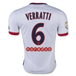 Paris Saint-Germain 15/16 VERRATTI Away Soccer Jersey